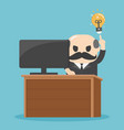 businessman having good idea businessman sitting vector image