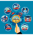 Car Wash Magnifier Concept vector image vector image