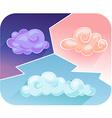 Cartoon clouds 2 vector image