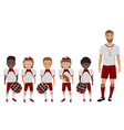 cartoon flat school american football boys vector image