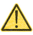 caution warning triangle sign sticker vector image