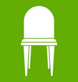 chair icon green vector image vector image