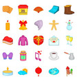 christmas eve icons set cartoon style vector image vector image