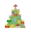 Christmas tree with gift boxes for your design vector image vector image