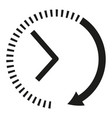 clock icon black and white clock arrows vector image vector image