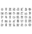 Coffee shop icons set outline style