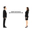 concept social distancing between partners vector image