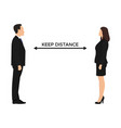 concept social distancing between partners vector image vector image