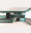 contemporary kitchen interior composition vector image vector image