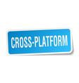 cross-platform square sticker on white vector image