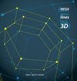 Dimensional tech pentagonal construction symbol vector image vector image