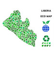 ecology green composition liberia map vector image vector image