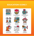 education concept icons vector image