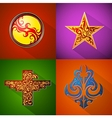 Emblems and badges vector image vector image