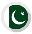 flag pakistan round shape icon on white vector image