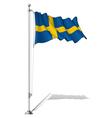 Flag Pole Sweden vector image