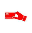 flat credit card payment icon vector image vector image