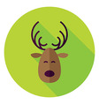 Flat Design Christmas Deer Circle Icon vector image vector image