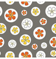 flower isolation colorful blossoms in circles vector image vector image