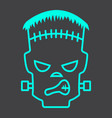 frankenstein line icon halloween and scary vector image vector image