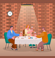 friends meeting people talking on home reception vector image vector image