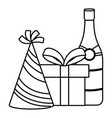 happy birthday and celebration gift design vector image vector image