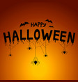 happy halloween concept post card background vector image vector image