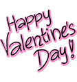 Happy Valentines Day - text vector image vector image