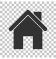 Home silhouette Dark gray icon on vector image vector image