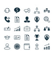 human icons set collection of coin payment vector image vector image