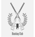 icon hunting club with guns vector image