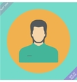 icon of man vector image vector image
