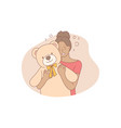 love happiness childhood embrace fun concept vector image