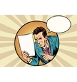 Male reminder white sheet of paper vector image vector image