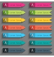 Mathematical Compass sign icon Set of colored vector image