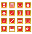 measure precision icons set red vector image vector image
