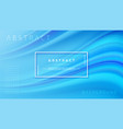 modern blue liquid wave background vector image