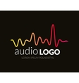 Music Logo concept sound wave studio music DJ vector image vector image