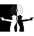 pistol shooter vector image vector image