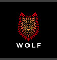 powerful nature head wolf logo template vector image vector image