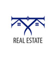 real estate logo concept design symbol graphic vector image vector image