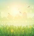 Retro grassy landscape 1602 vector image vector image