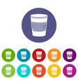 rubbish bin icon simple style vector image vector image