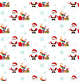 santa and a bag of gifts christmas pattern vector image vector image