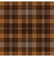 seamless brown black tartan - white stripes vector image vector image