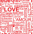 seamless love background - word collage vector image