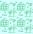 seamless pattern with eco energy symbols vector image