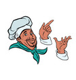 set african cook and hand gestures vector image vector image