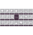 set of labels or tags with different types of tea vector image