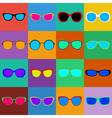 set sunglasses vector image